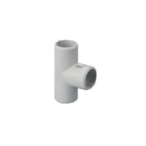 Разглобяем PVC Т-съединител за твърда тръба Ф16mm.