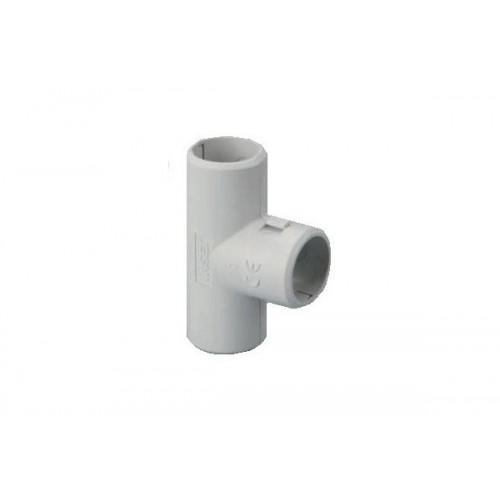 Разглобяем PVC Т-съединител за твърда тръба Ф20mm.