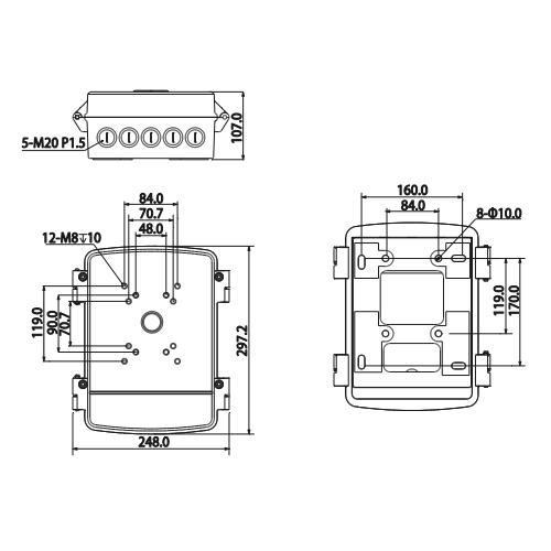 Разпределителна кутия водоустойчива PFA140