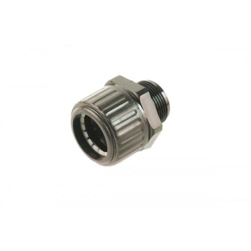 Щуцер без гайка за гофрирана тръба с диаметър 25mm, UV стаблизиран