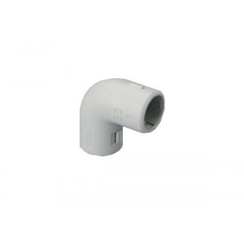 Разглобяем PVC 90° съединител/ъгъл за твърда тръба Ф25mm.