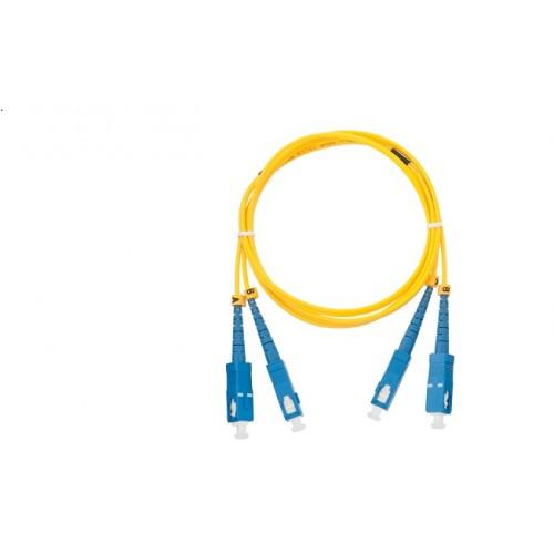 NIKOMAX Оптична пач корда 3 метра SC/UPC – LC/UPC, NMF-PC2S2C2-SCU-LCU-003